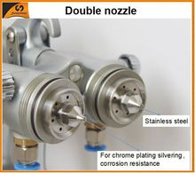 2015 chrome paint 93 polyurethane foam cutting machine double nozzle spray gun