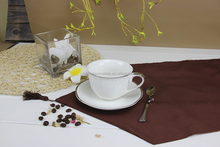 Elegant style ceramic coffee tea cup and saucer