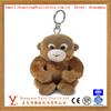OEM custom realistic stuffed animal shaped toy plush lovely monkey keychain