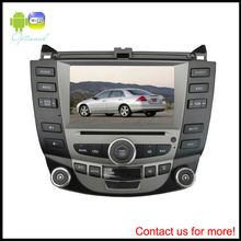 7 inch car HD touch screen dvd player with gps system/TV/bluetooth/Radio function for honda Accord 2003-2007