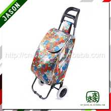 metal shopping trolley drawstring backpack with pocket