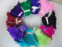 Hot Sale!!!100pcs/lot Mix Colors Rooster Feather For Hair Extensions
