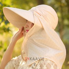 women summer beach UPF neck cover caps and hats
