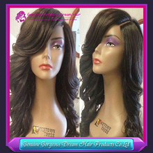 8A Virgin Peruvian Cheap Full Lace Wigs Human Hair Wigs With Bang Glueless Wavy Lace Wig For Fashion Black Women