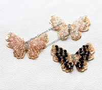 fashion beautiful butterfly crystal applique sewing on garment clothing dress shoes hat embellishments for crafts and furnitures