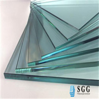high quality 8mm clear float glass door canopy panels
