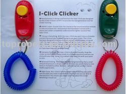 Pet Dog Cat Click Clicker Obedience Training Trainer Aid Wrist Strap Horse Pet
