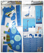 Animals 3D Floor Stickers& 3D EVA Foam Removable Kids Height Growth Chart Decorative Wall Stickers