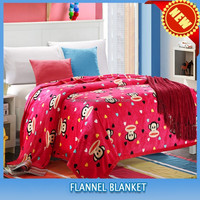 cheap kids animals & flower & cartoon printed coral fleece blanket cover