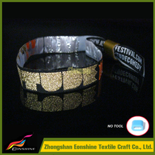OEM hot-selling promotional custom Reflective cloth Wristbands