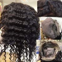 2015 Unprocessed virgin Hair top quality 7a virgin brazilian invisible part wig remy human hair