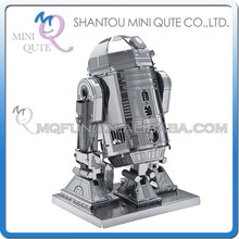 Mini Qute 3D Metal Puzzle Star War R2-D2 robot plane warcraft military Vehicle Adult kids model educational toys gift NO.H21101