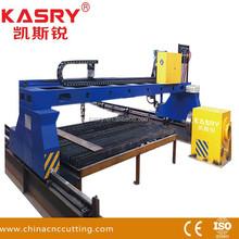 Heavy duty gantry plasma/oxyfuel cutting machine for 2000*4000mm metal plate sheet and pipe