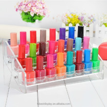 New elegant clear wholesale acrylic cosmetic organizers, display shelf