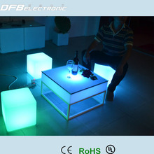 led cube with rgb colorful light