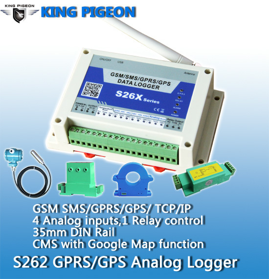 Gsm Gprs Analog Logger S262 With 4 Analog Inputs Monitor