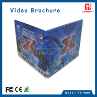 2015 new product 7 inch digital lcd video brochure card with hd screen