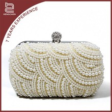 Wholesale beaded cosmetic clutch bag made of beads ZY-2077