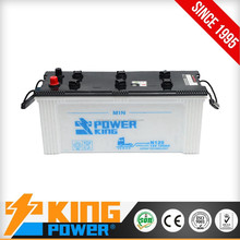 12V JIS standard 135AH Dry charged cheap auto battery N135 electric car battery with best price