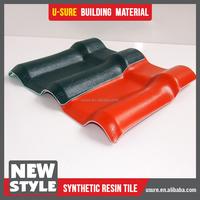 plastic cover awning spanish pvc roof ridge tile for villa house