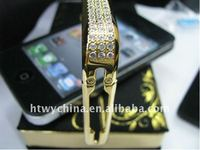 Luxury Gold Diamond bumper Case for iPhone4 4g