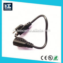 UL listed 110V 125v 7a power cord set with c7 d shape connector for North American