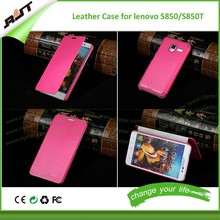 Hot sale Cheap PU leather phone case for Lenovo S850, mobile phone case for lenovo