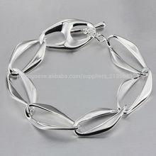 atacado jewelly moda prata, 925 pulseira de prata