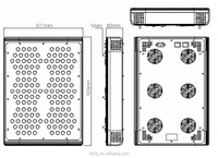 CE&ROSH approved high par value 432w rgb led grow light easy repair 2015 with 3w chip for plant cultivation room