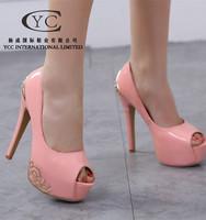Alibaba 2015 China online Shopping PEONY Lady Faction Shoe Sexy Casual Shoe high heel Dress Pumps China Wholesale