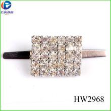 Hw2968 mini sapato strass ornamentos de pedra chapeamento de prata sapatos de fivela