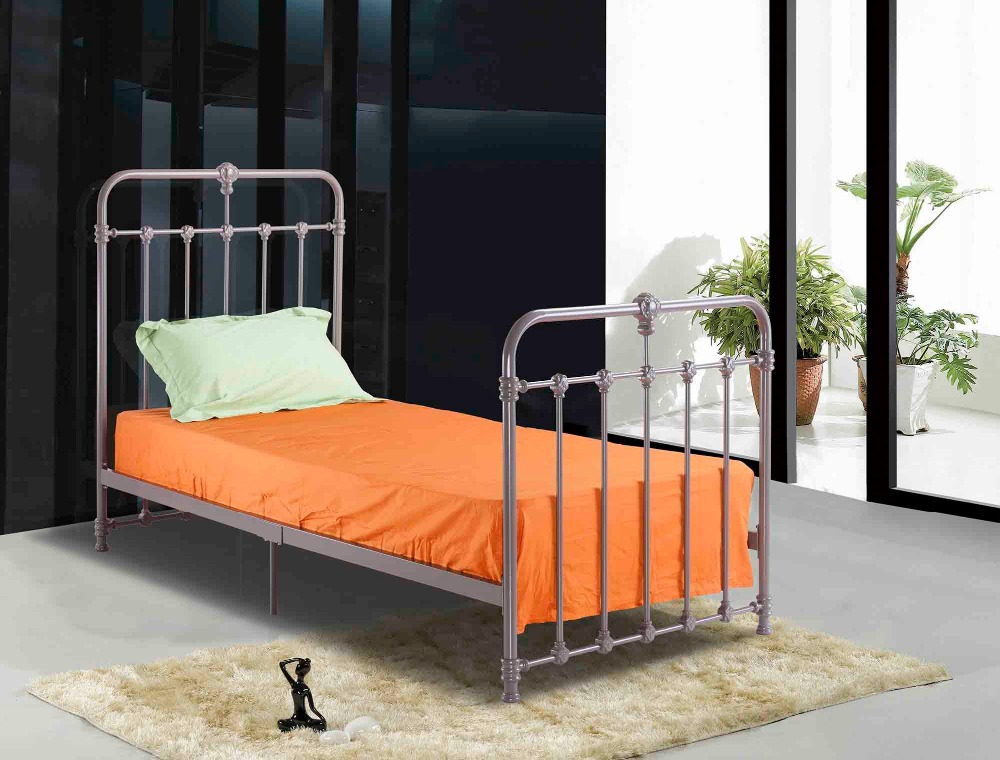 Hot sale single iron bed in cool grey color buy cool for Cool bunk beds for sale