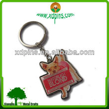 personalized zoo dog digital photo cheap key chain for promotional