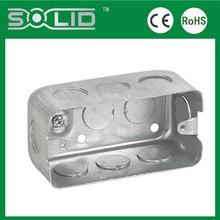 "UL514A 4""*2-3/8"" rectangle OEM steel box using & EMT electrical conduit box"