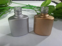 Hot sale nail polish glass bottle with gold and silver coating