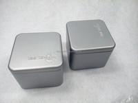 square plain watch tin box, smart watch tin,size 90*90*126mm