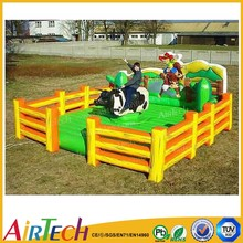 top selling inflatable bull ride game for amusement