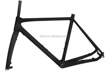 Hot sale disk brake full carbon Cyclocross frame 700c supplying with Fork, clamp and headset FT027