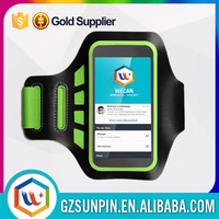 Customized fabric reflective sport armband for iphone 6