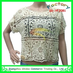 Embroidery blouse handmade cross stitch blouse cotton embroidery blouse
