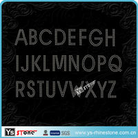 25B006 Wholesale rhinestone alphabet transfer