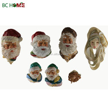 santa claus head resin christmas ornaments