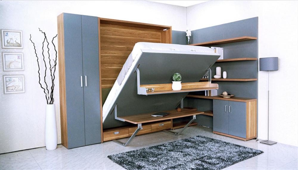 Modern Single Hidden Furniture Murphy Bed Wall Bed Desk