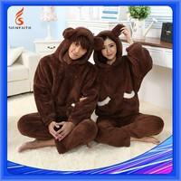 Breathable, Adults, Wool Sleepwear, Cashmere Pajama, Men Pajamas Fleece