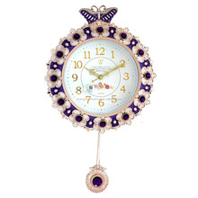 Bright Antique Pendulum Wall Clock for Decoration