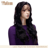 100% human hair brazilian hair Lace front wig with baby hair