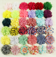 new fashion bright-coloured chiffon lace flower trimmings factory, DIY flowers
