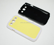 2D blank sublimation case forsamsung galaxy s3 i9300, black white and transparent color