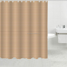 Wholesale waterproof fabric trendy stripes print bath curtain design bathroom accessories