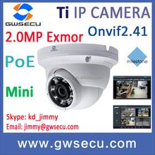 h.264 Onvif 2mp 1080p mini ir eye ball dome ip camera p2p poe